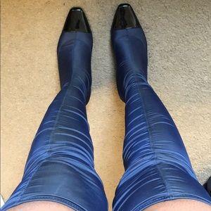Zara navy cap toe over the knee boots!